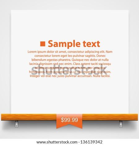 Empty boutique showcase - stock vector