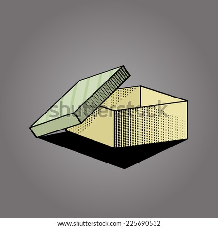 Empty Box Vector - stock vector