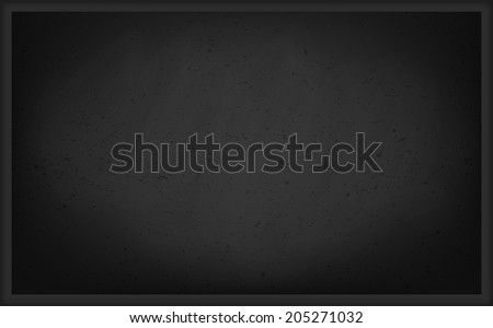 Empty Chalk Board Background - stock vector