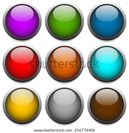 Empty Circles with Highlight, Gloss Effect. Eps 10 vector