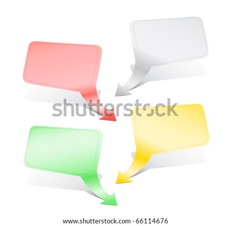 Empty color indexes with shadow for the text - stock vector