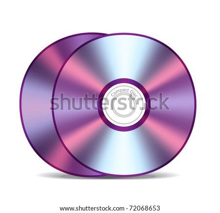 Empty compact discs - stock vector