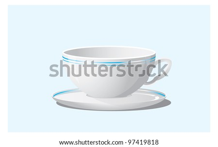 Empty cup - stock vector