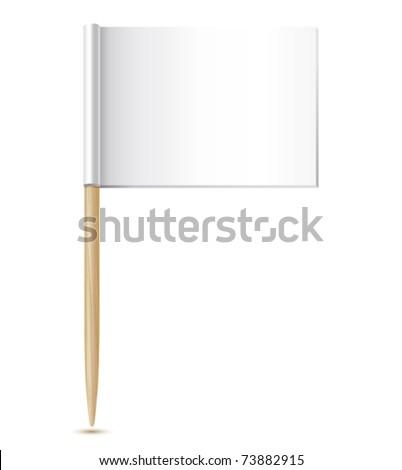 empty flag toothpick - stock vector