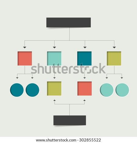 Empty flowchart scheme. Infographics chart element. Simply flat design. - stock vector