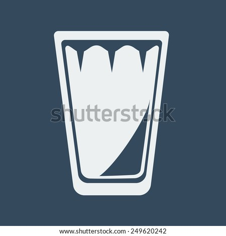 Empty Glass of Water or Other Drinks.Vector illustration - stock vector
