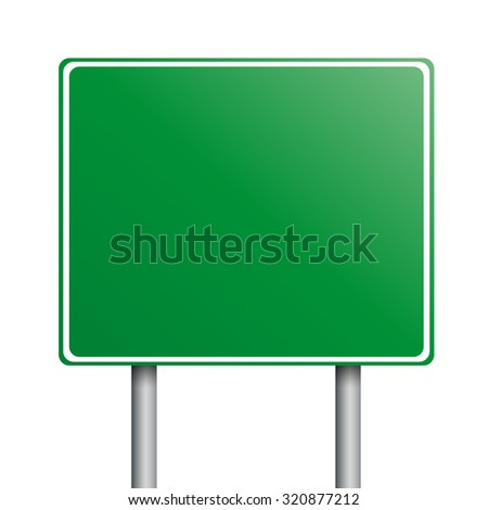 empty green road signs