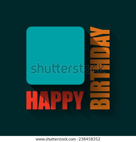 Empty Happy Birthday Background Card Flat Stock Vector 238458352