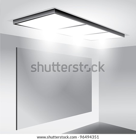 Empty Interior - stock vector