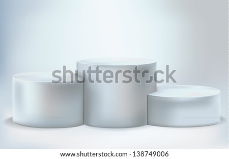 Empty lighted podium - stock vector