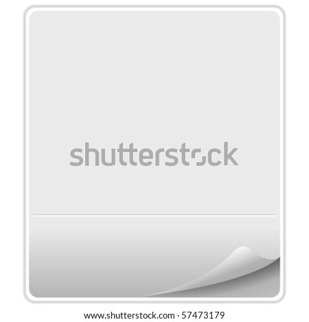 empty paper against white background, abstract vector art illustration