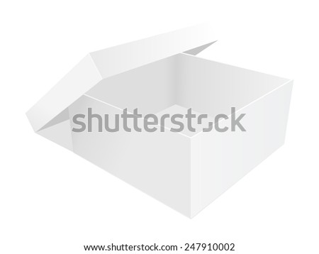 empty paper box vector illustration on white background - stock vector