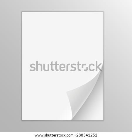 Empty paper sheet - stock vector