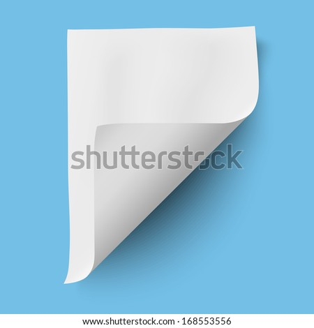 Empty paper sheet isolated - stock vector