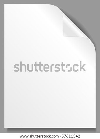 Empty paper sheet. Vector - stock vector