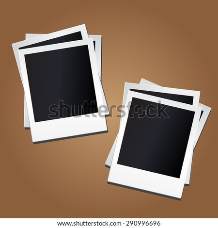 Empty photo frames on background. Vector illustration