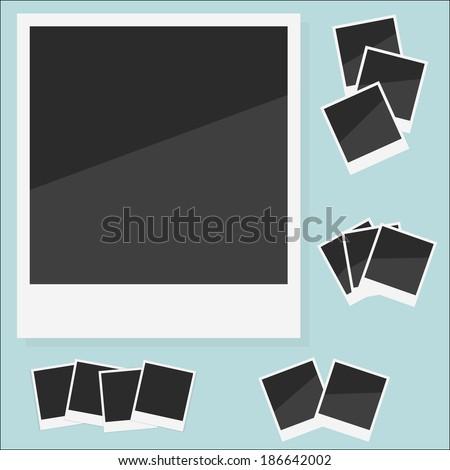 Empty photo Polaroid. Vector illustration - stock vector