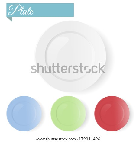 Empty plate - stock vector