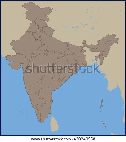 Empty political map india stock vector 430249558 shutterstock empty political map of india gumiabroncs Image collections