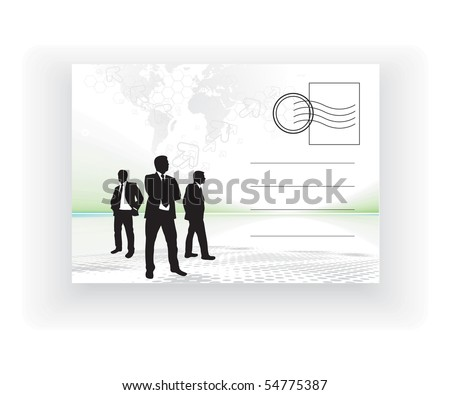 empty post card, isolated on illustration background, vector illustration - stock vector