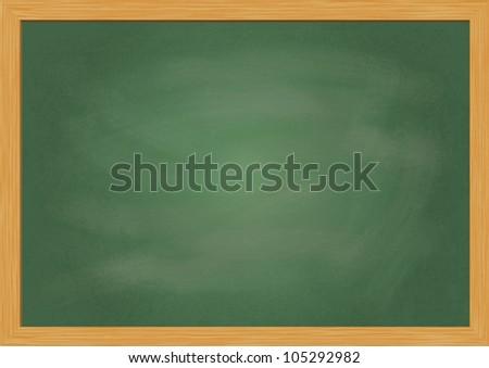 Empty realistic black board in vector format - stock vector