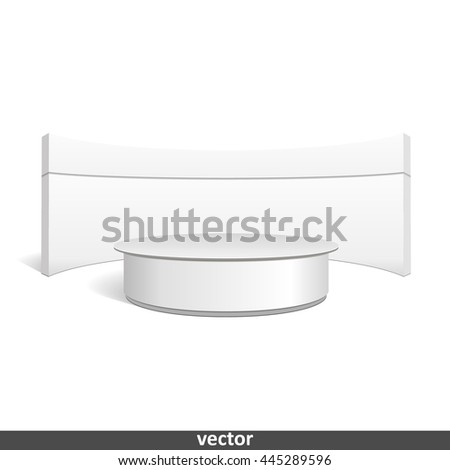 Empty retail stand. Illustration isolated on white background. Graphic concept for your design - stock vector