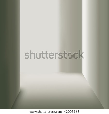 Empty room. (Vector illustration) - stock vector