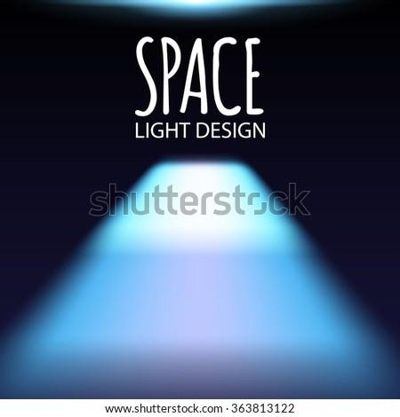 Empty Room with Shining Floor. Vector illustration - stock vector