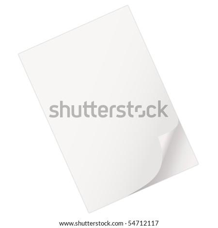 Empty sheet of paper - stock vector
