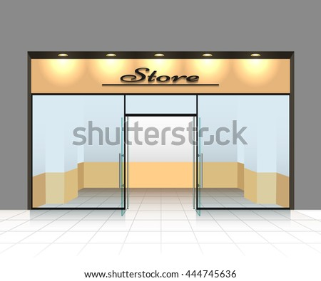 Empty shop front or store vector illustration - stock vector
