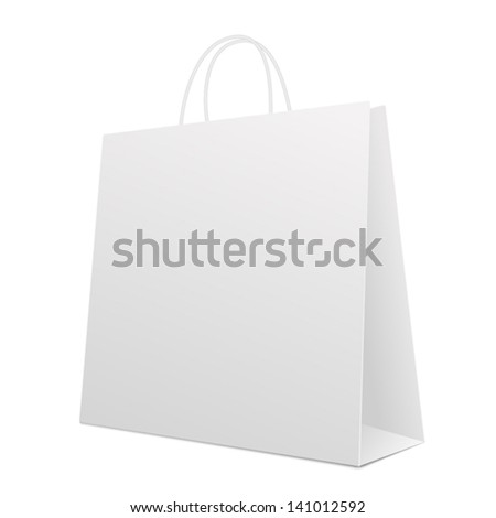 Empty Shopping Bag on white. Vector - stock vector