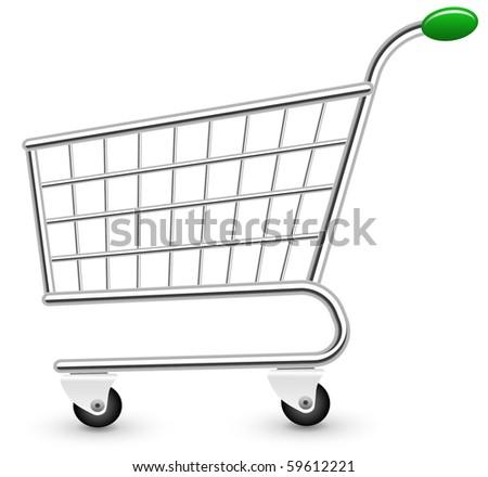 Empty shopping cart - stock vector