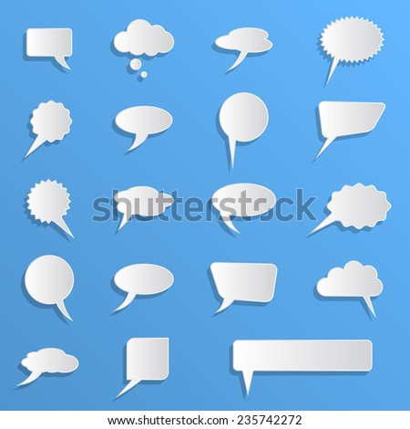 empty speech bubbles - stock vector