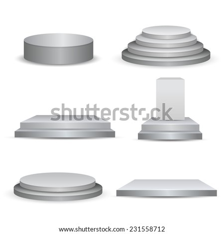 Empty stage studio vector - stock vector