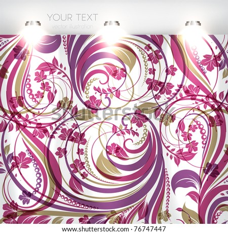 Empty storefront with seamless colorful background. You can change colors for the background, eps10 vector - stock vector