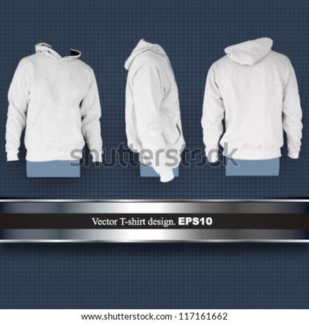 empty sweatshirt design. vector illustration - stock vector