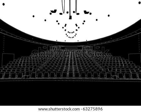 Empty Theater Vector 01 - stock vector