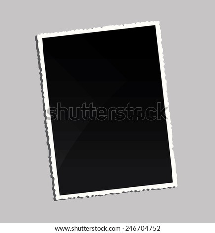 Empty vintage photo frame on table  - stock vector