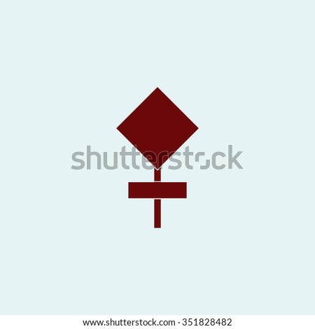 Empty warning sign. Red vector icon. Simple modern illustration pictogram. Collection concept symbol for infographic project and logo - stock vector