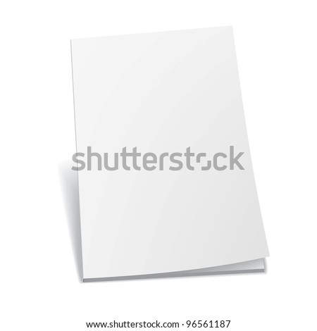 Empty white books - stock vector