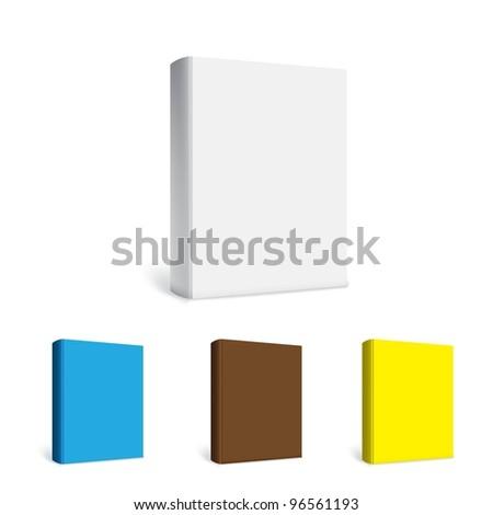 Empty white books - stock vector