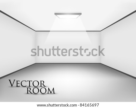 Empty white room for your interior design - stock vector