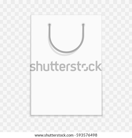 Empty White Shopping Bag Template Advertising Stock Vector (2018 ...