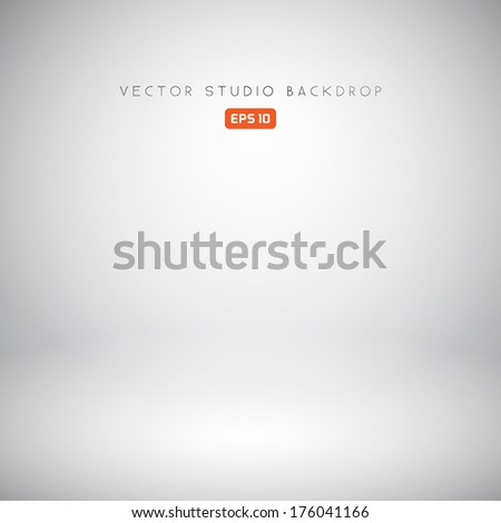 Empty White Studio Backdrop in Vector EPS 10 - stock vector