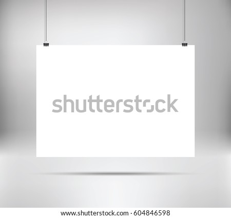 empty white vector horizontal poster template stock vector, Powerpoint templates