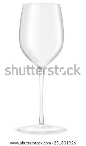 Empty wine glass  - vector drawing  - stock vector