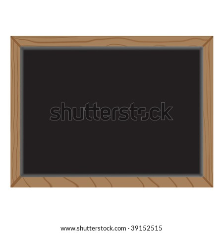 empty wooden blackboard - stock vector