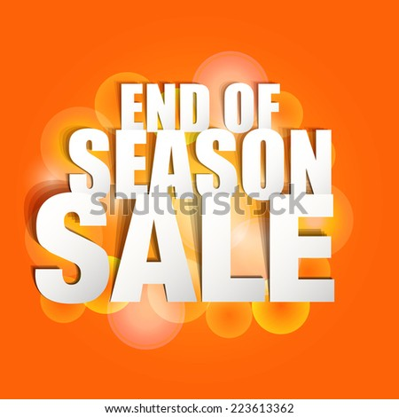 End Season Sale Paper Folding Design