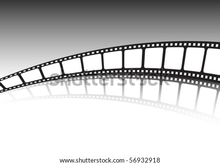 Endless film strip vector background illustration