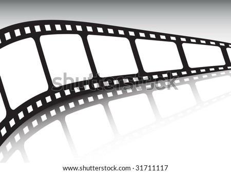 Endless film strip vector illustration